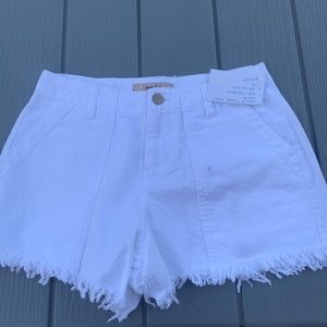 HARLOW white fray shorts size small